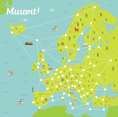Postcard content europakarte news