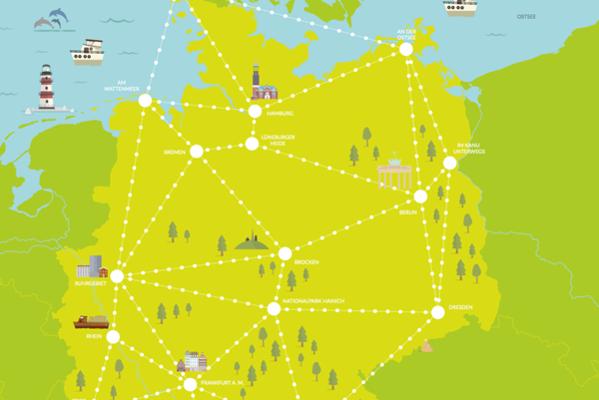 Postcard muuvit deutschland landkarte ausschnitt